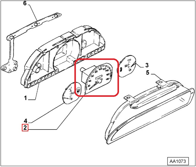 Speedometer Odometer Original Fiat 9943200 Fiat Uno