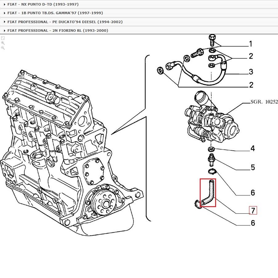 Sleeve Lubrication For 1307685080 Fiat Ducato Punto Peugeot Wiring Diagram 1997 Descrizione