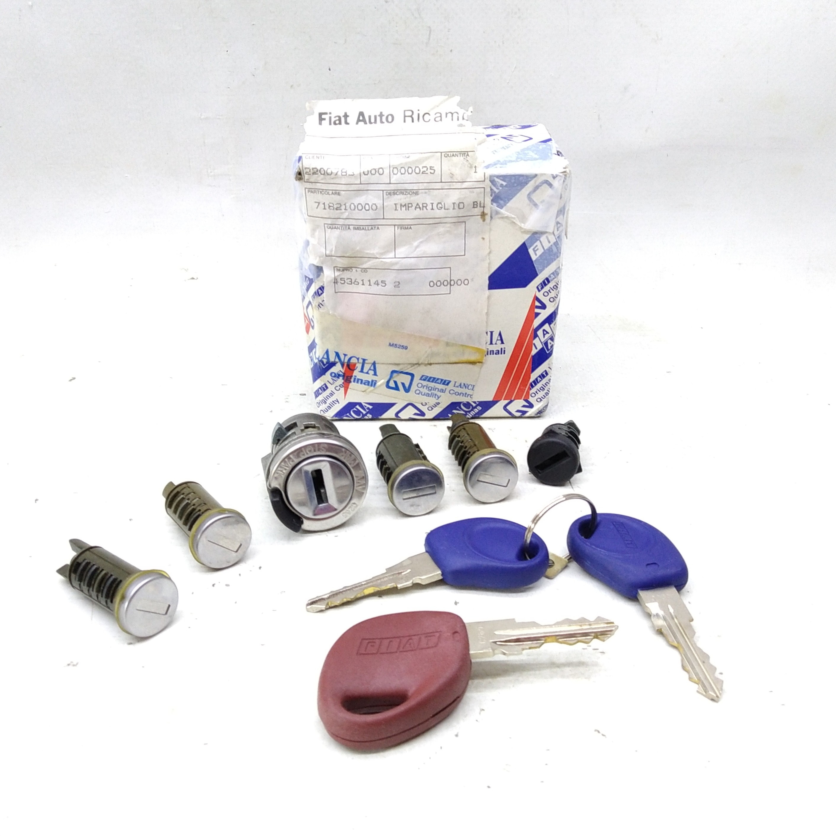 KIT IMPARIGLIO COMPLETO SERRATURE FIAT CINQUECENTO ORIGINALE 718210000