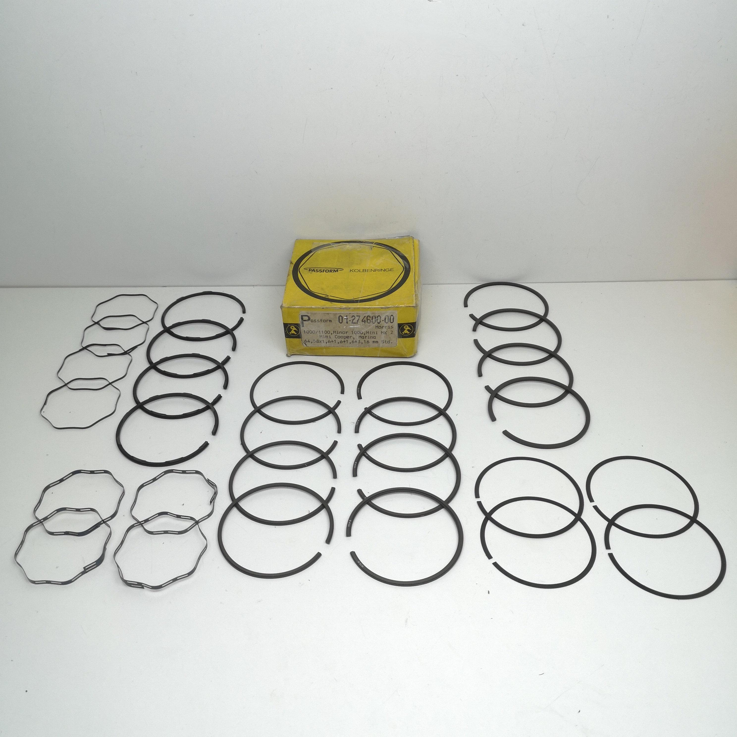 Diam 105 02311000 Serie fasce segmenti elastici X 4 pistoni OM Tigrotto P