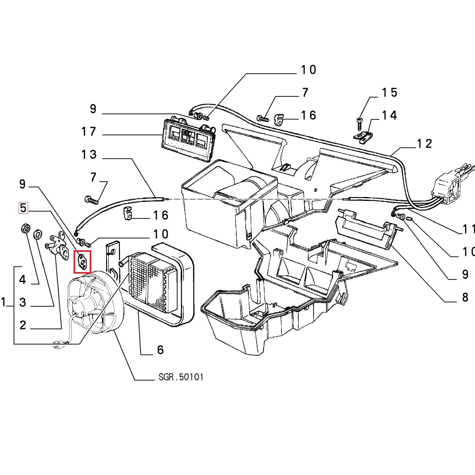 AUTOBIANCHI A 112 GUARNIZIONE RUBINETTO RISCALDAMENTO