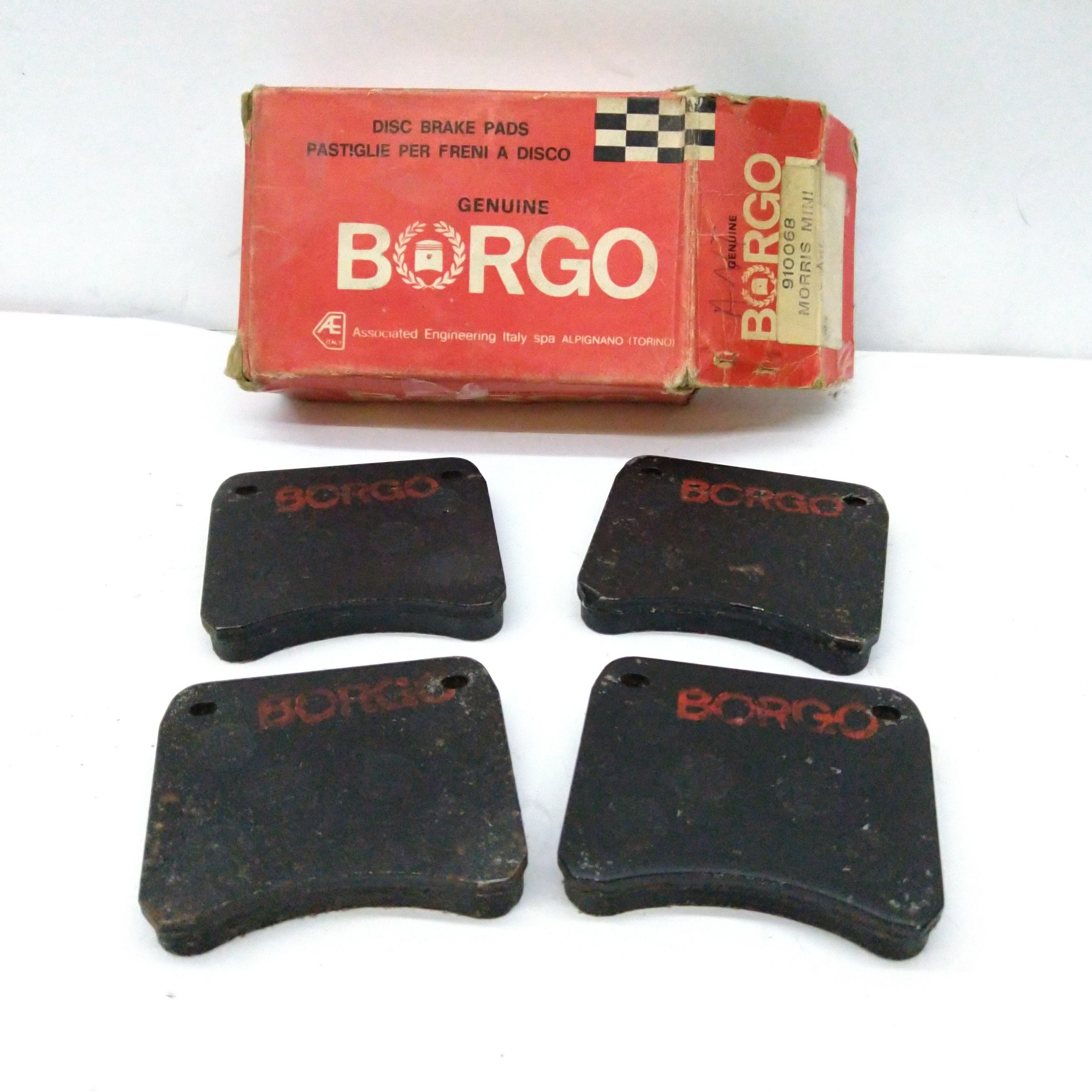 MORRIS MINI BORGO 910068 FRONT BRAKE PADS KIT