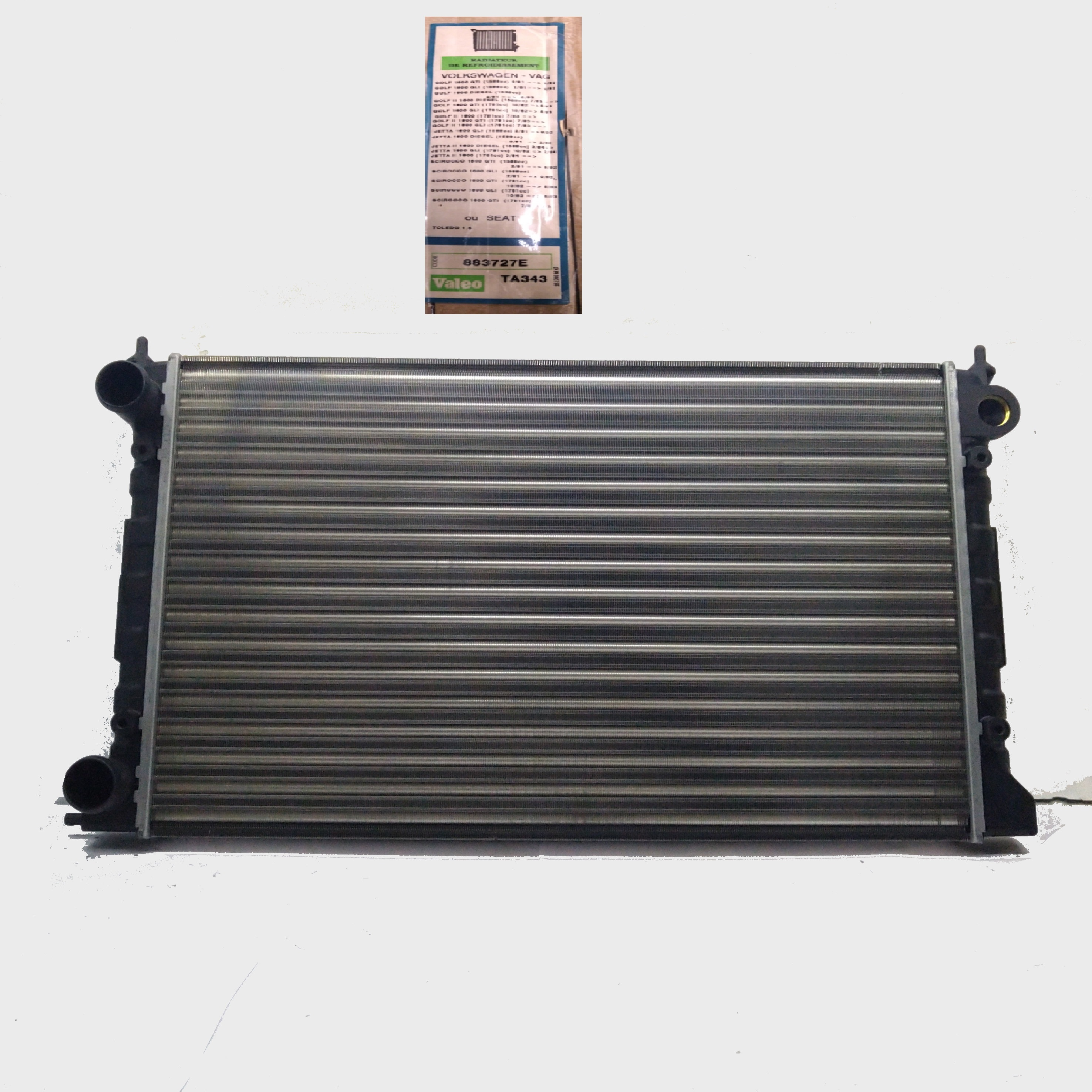 VW GOLF - JETTA - SCIROCCO VALEO ENGINE COOLING RADIATOR FOR 1L0121253B