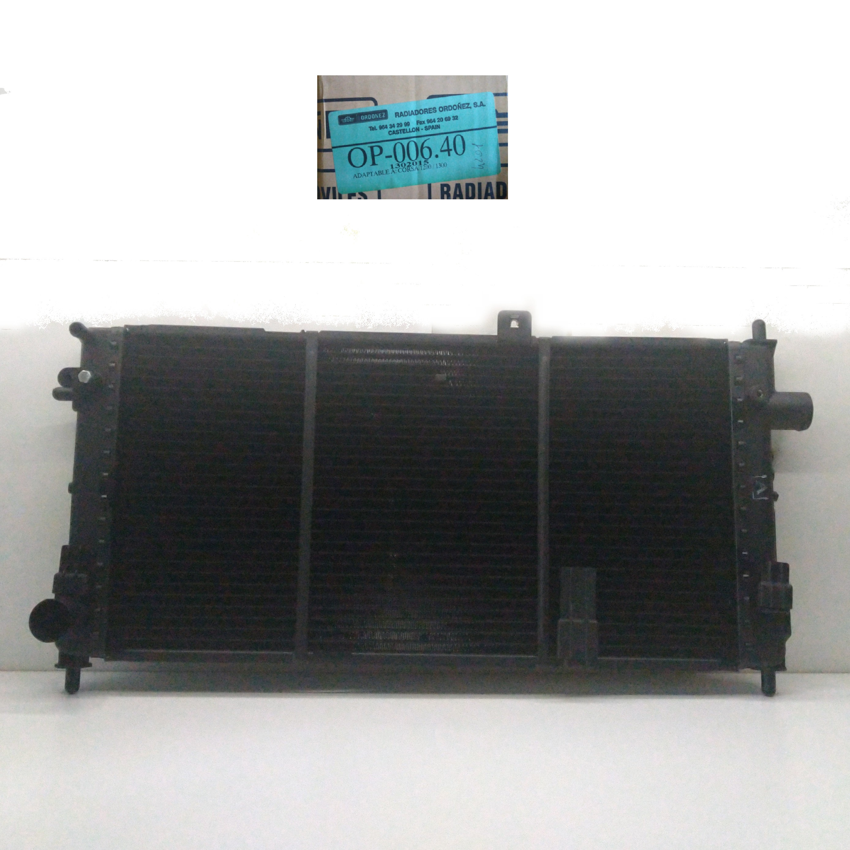 ENGINE COOLING RADIATOR OPEL CORSA ORDONEZ FOR 1302015