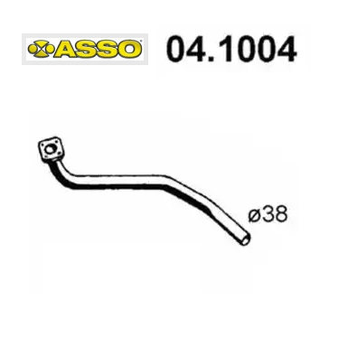 FRONT EXHAUST GAS PIPE VW PASSAT - AUDI 80 1.3 ASSO FOR 823253101D