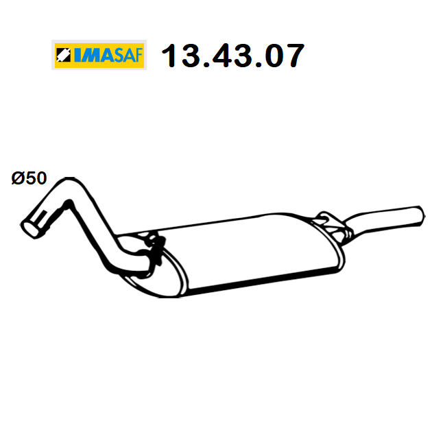 AUDI 80 REAR SILENCER - COUPE 'IMASAF FOR 893253078Q