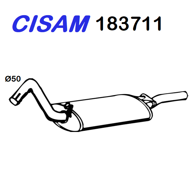 AUDI 80 REAR SILENCER - COUPE 'CISAM FOR 893253078Q