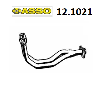FRONT EXHAUST GAS PIPE FIAT PANDA 1300 DS ASSO 7573697