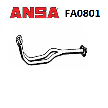 FRONT EXHAUST GAS PIPE FIAT DUNA - FIORINO - ONE ANSA FOR 7571460