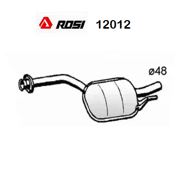 CENTRAL SILENCER MERCEDES BENZ 190 W201 ROSI FOR A2014901001