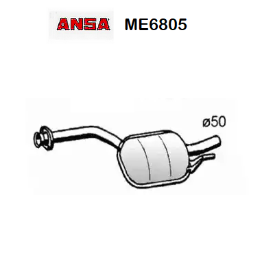 CENTRAL SILENCER MERCEDES BENZ 190 W201 2.5D ANSA FOR A2014901015