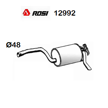 REAR SILENCER MERCEDES BENZ 190 W201 ROSI FOR A2014902415