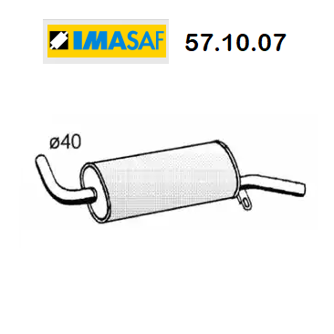 REAR SILENCER PEUGEOT 104 IMASAF FOR 172465