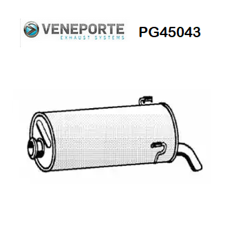 REAR SILENCER PEUGEOT 306 VENEPORTE FOR 172685