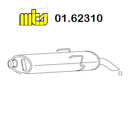 REAR SILENCER PEUGEOT 106 I - II MTS FOR 1730Y3