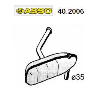 FRONT SILENCER RENAULT R5 ASSO FOR 7700571354