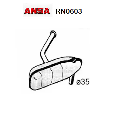 FRONT SILENCER RENAULT R5 ANSA FOR 7700571354