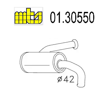 FRONT SILENCER RENAULT R5 MTS FOR 7700614305