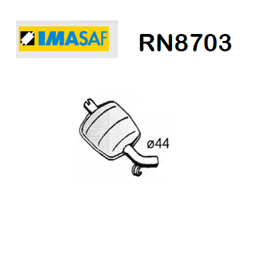 FRONT SILENCER RENAULT R20 IMASAF FOR 7700590274
