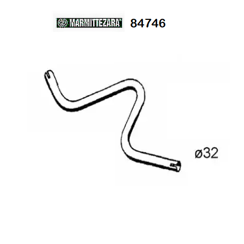 FRONT EXHAUST GAS PIPE RENAULT R4 1.1 ZARA FOR 7700657468