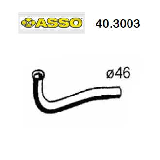 FRONT EXHAUST GAS PIPE RENAULT SUPER 5 1.4 TURBO ASSO FOR 6001007690