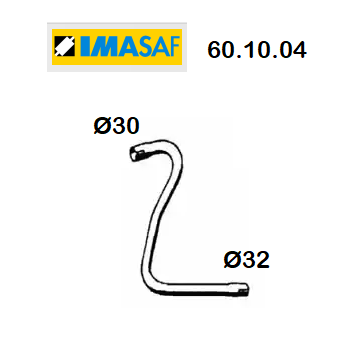 FRONT EXHAUST GAS PIPE RENAULT R4 - RODEO 4 IMASAF FOR 7700515611