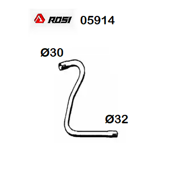 FRONT EXHAUST GAS PIPE RENAULT R4 - RODEO 4 ROSI FOR 7700515611