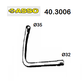 FRONT EXHAUST GAS PIPE RENAULT R4 ASSO FOR 7700757172
