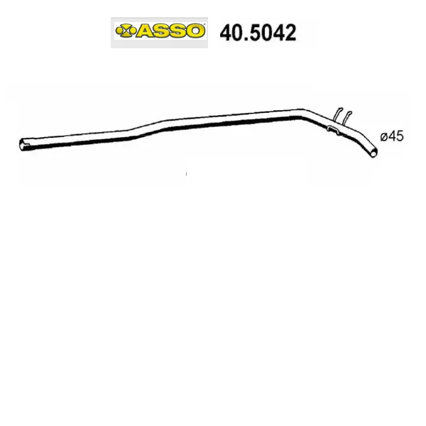 CENTRAL EXHAUST GAS HOSE RENAULT R9 - R11 ASSO FOR 7700765191