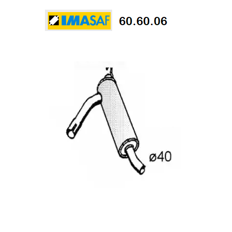 CENTRAL SILENCER RENAULT R14 IMASAF FOR 7700642642