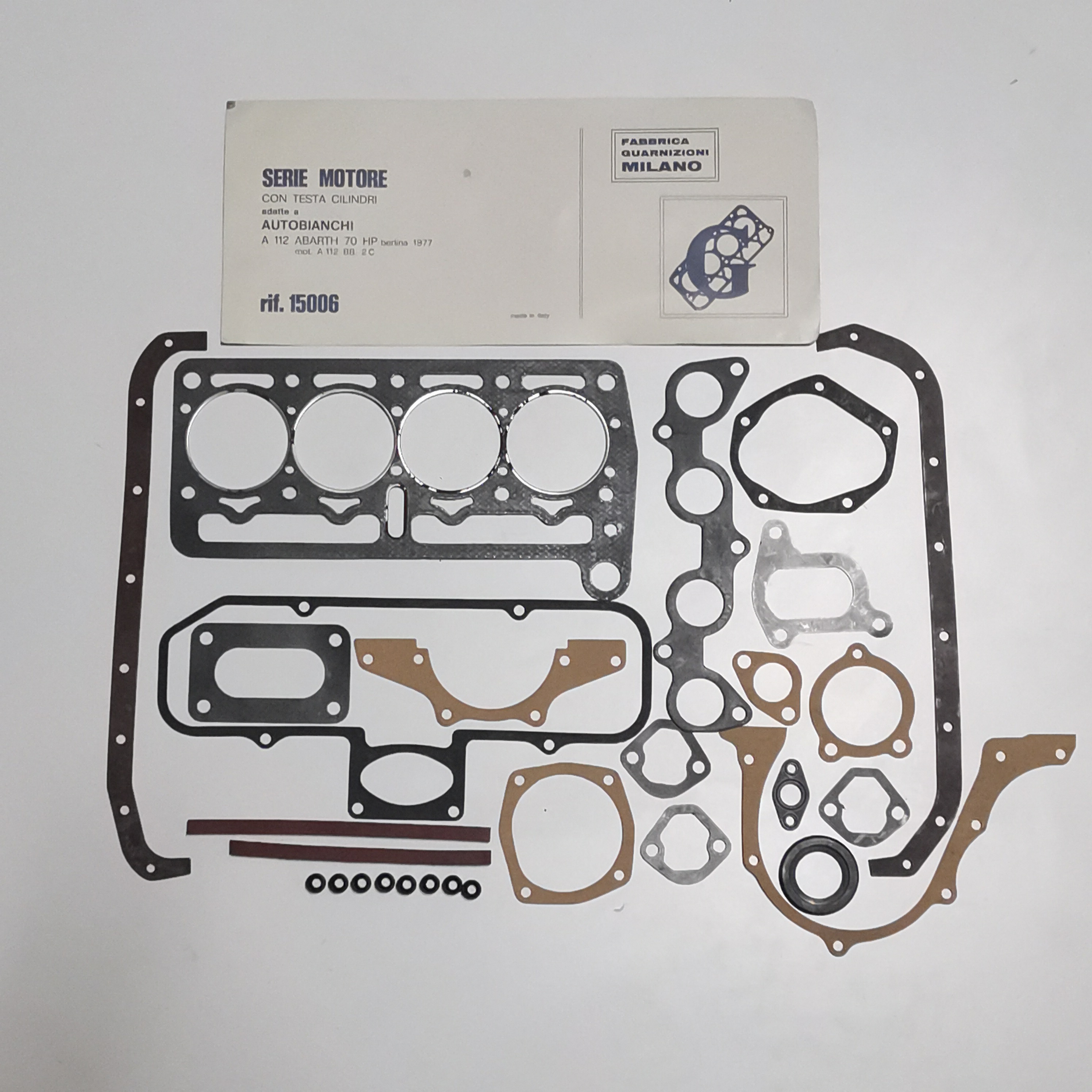 MOTOR GASKET KIT WITH AUTOBIANCHI HEAD A112 ABARTH GM 1500609