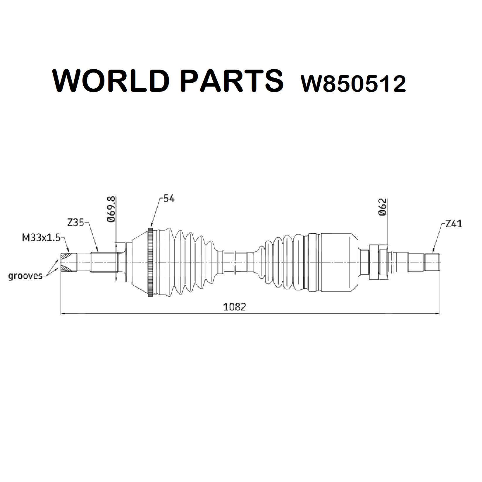 FRONT HALF-AXLES RIGHT FIAT DUCATO WORLD PARTS FOR 1478552080