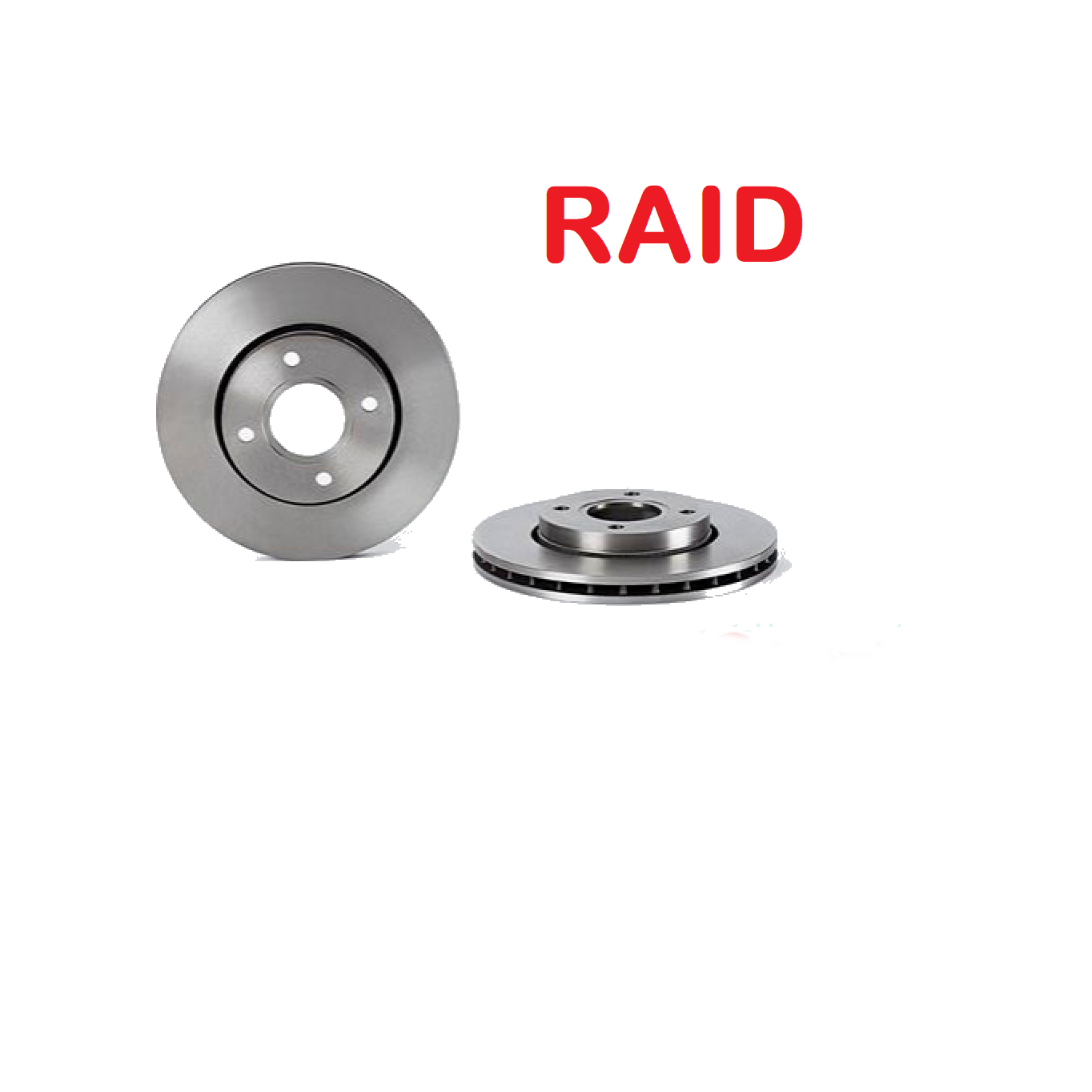 PAIR OF FRONT BRAKE DISCS FORD ESCORT - ORION RAID FOR 5025950