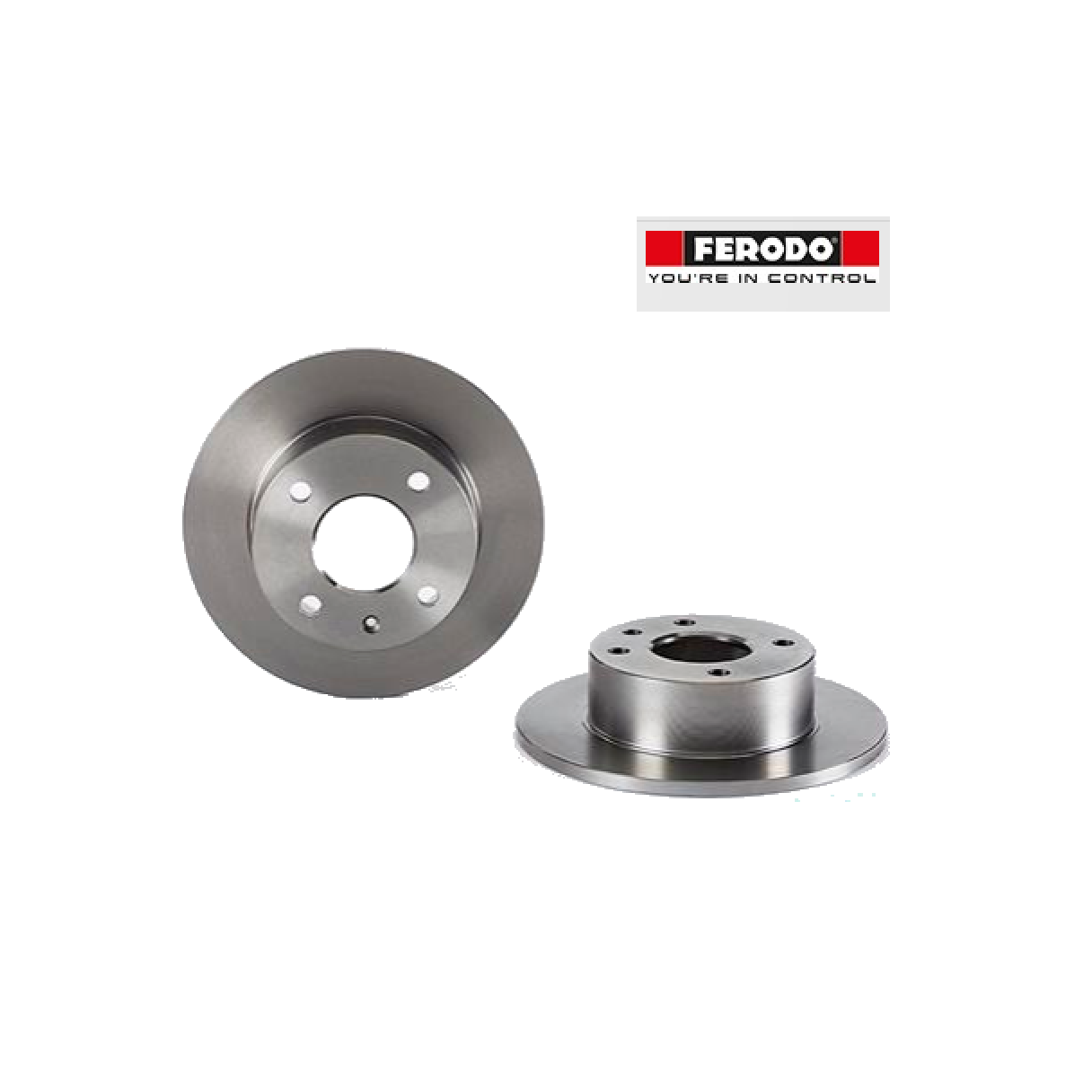 PAIR FRONT BRAKE DISCS FORD ESCORT - ORION FERODO FOR 1629475