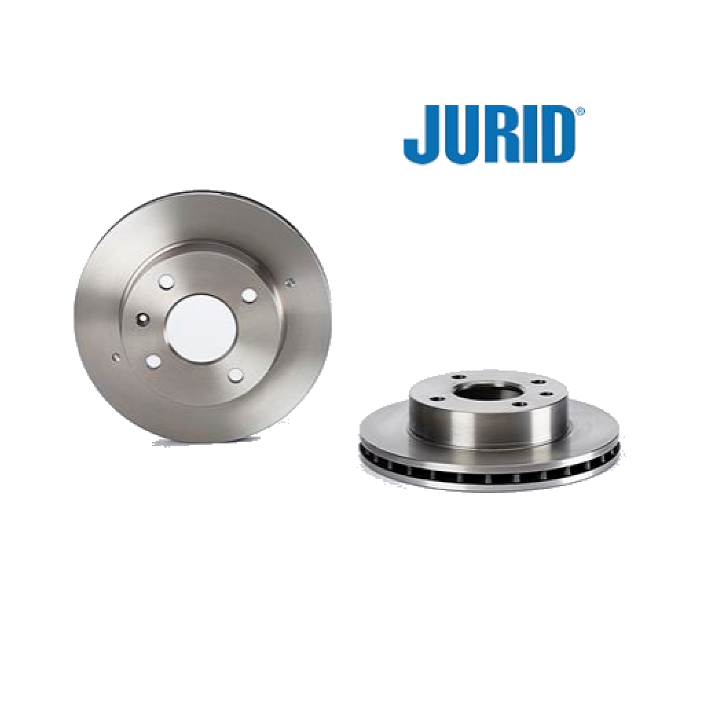 PAIR FRONT BRAKE DISCS FORD ESCORT - ORION - SIERRA JURID FOR 1096104