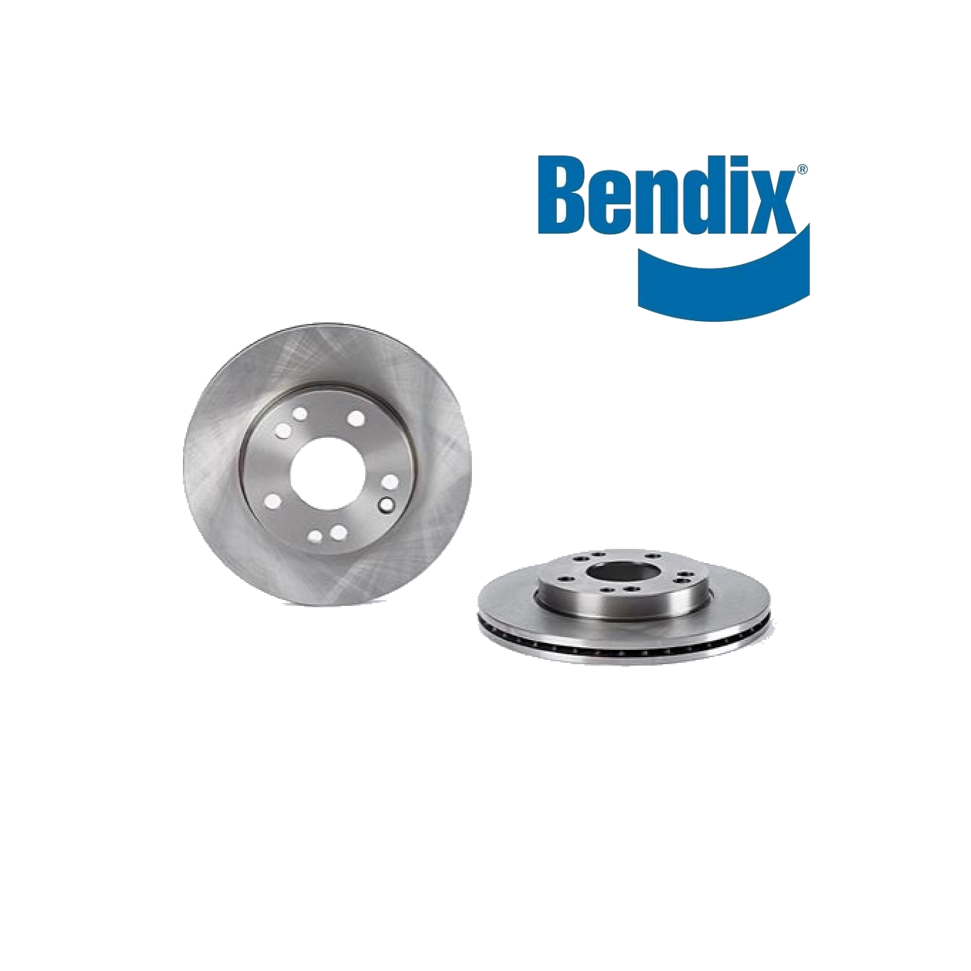 PAIR FRONT BRAKE DISCS MERCEDES BENZ 190 W201 BENDIX FOR A2014211312