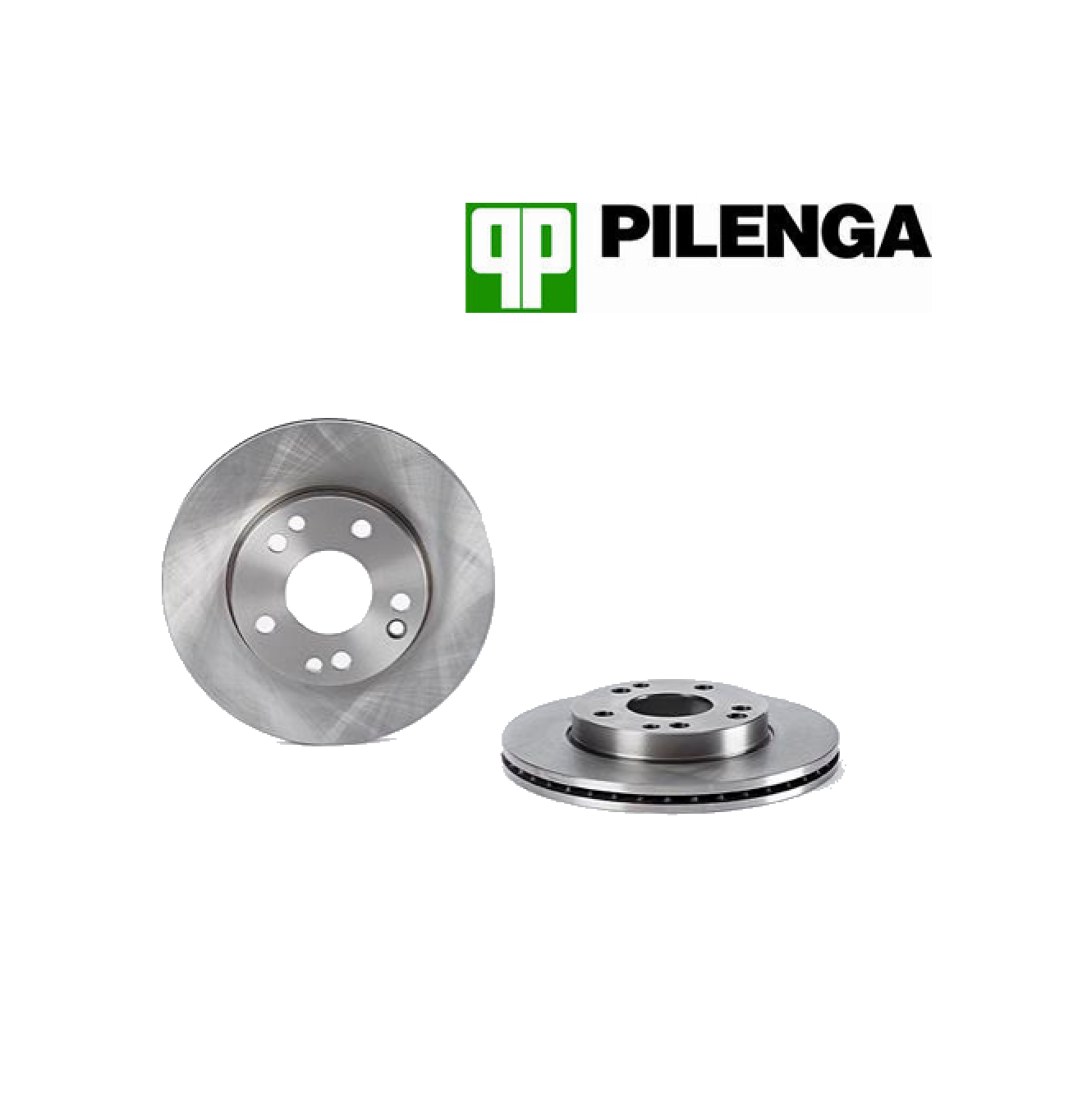 PAIR FRONT BRAKE DISCS MERCEDES BENZ 190 W201 PILENGA FOR A2014211312