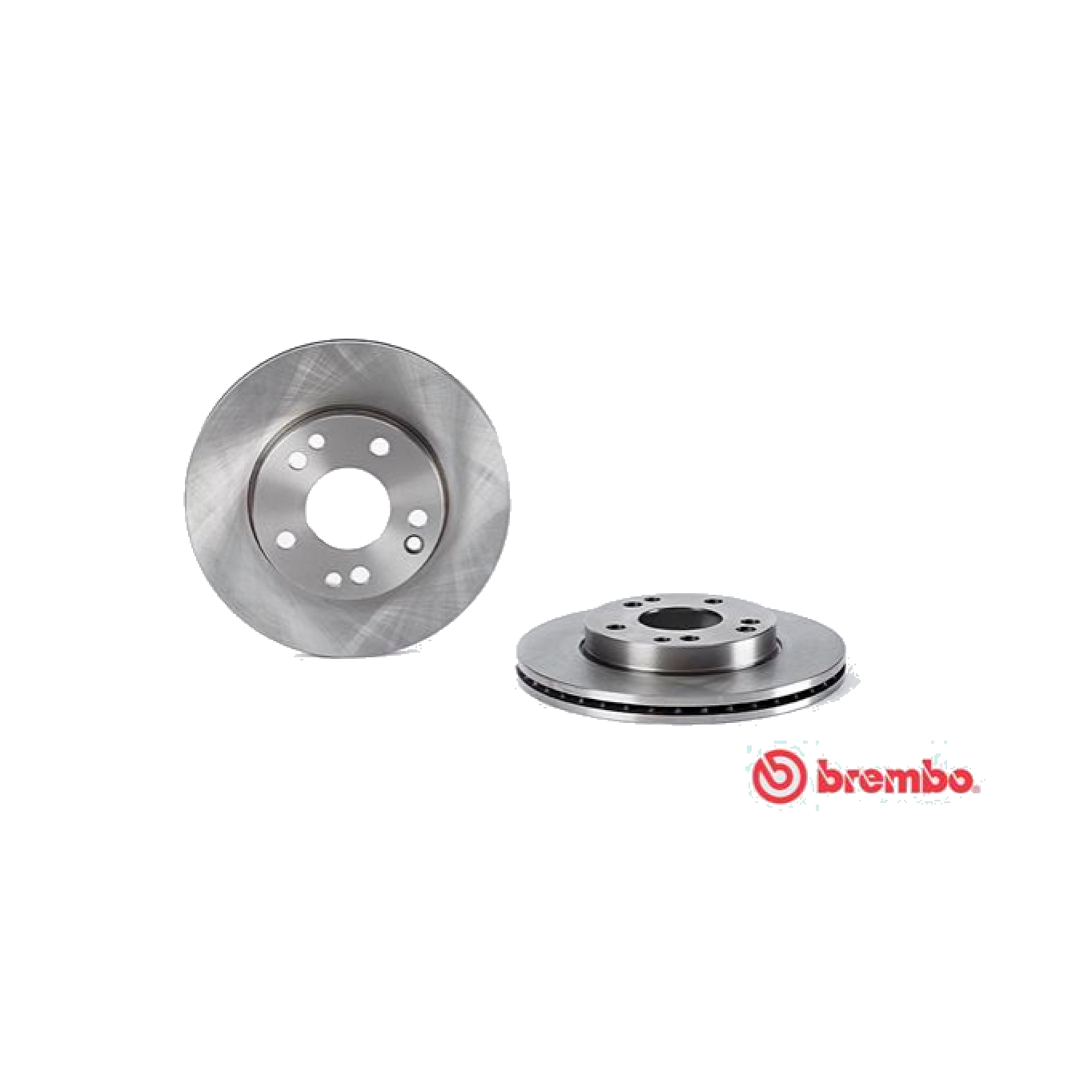 PAIR OF FRONT BRAKE DISCS MERCEDES BENZ 190 W201 BREMBO FOR A2014211312