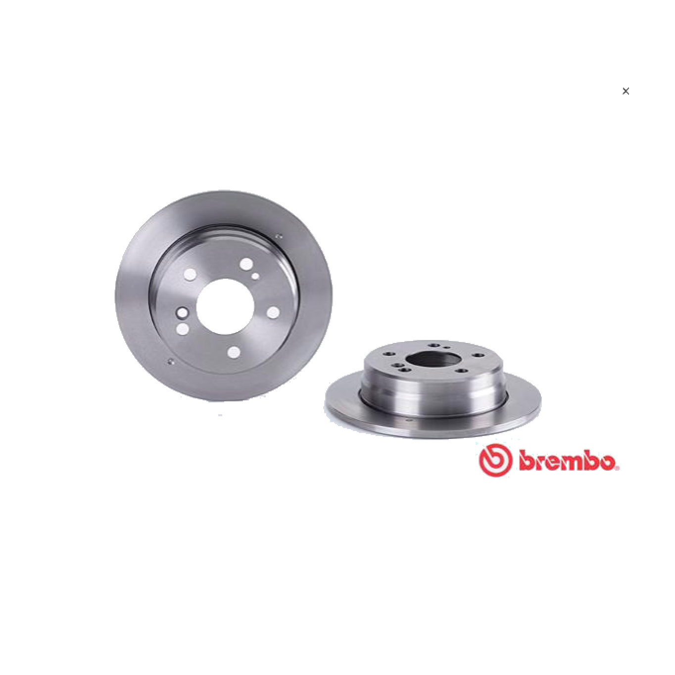 PAIR OF REAR BRAKE DISCS MERCEDES 190 W201 - BREMBO COUPE 'FOR A2014230912