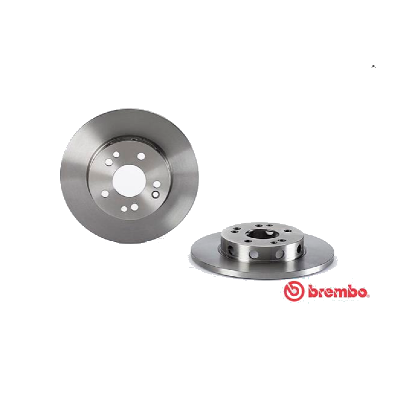 PAIR FRONT BRAKE DISCS MERCEDES E CLASS W124 BREMBO FOR A1244211212