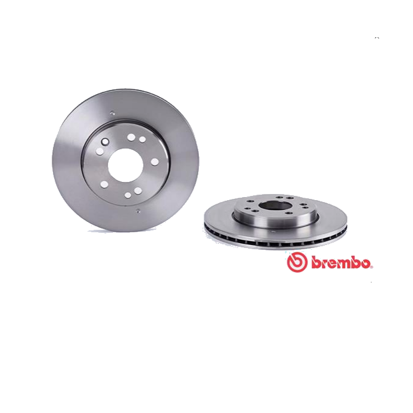 PAIR OF FRONT BRAKE DISCS MERCEDES 190 W201 - BREMBO COUPE 'FOR A1244211612