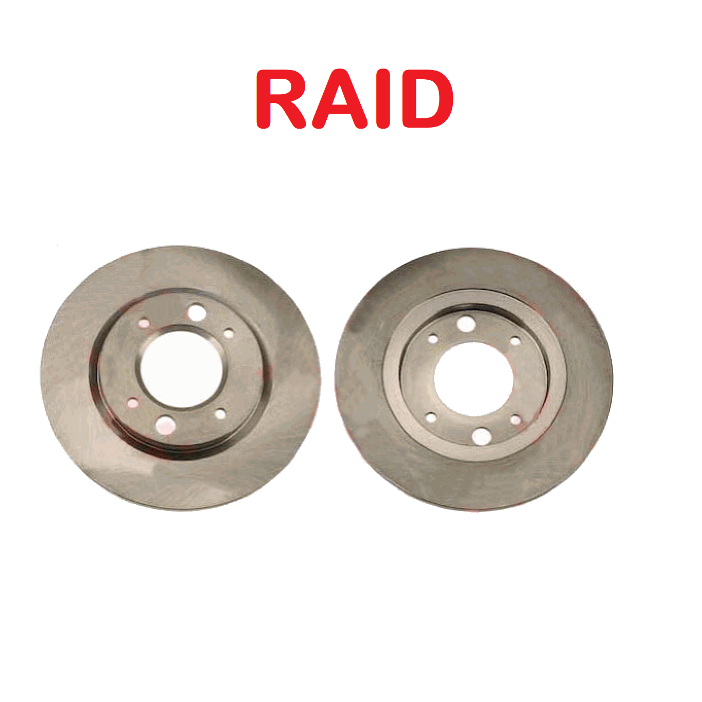 PAIR OF REAR BRAKE DISCS PEUGEOT 504 - 505 - 604 RAID FOR 424661