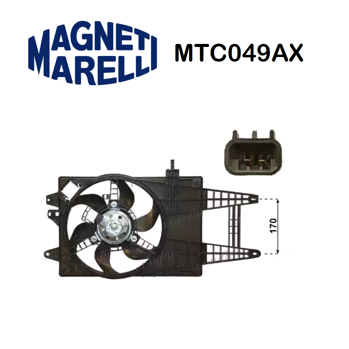 FIAT PUNTO MAGNETI MARELLI ENGINE COOLING FAN FOR 46745045