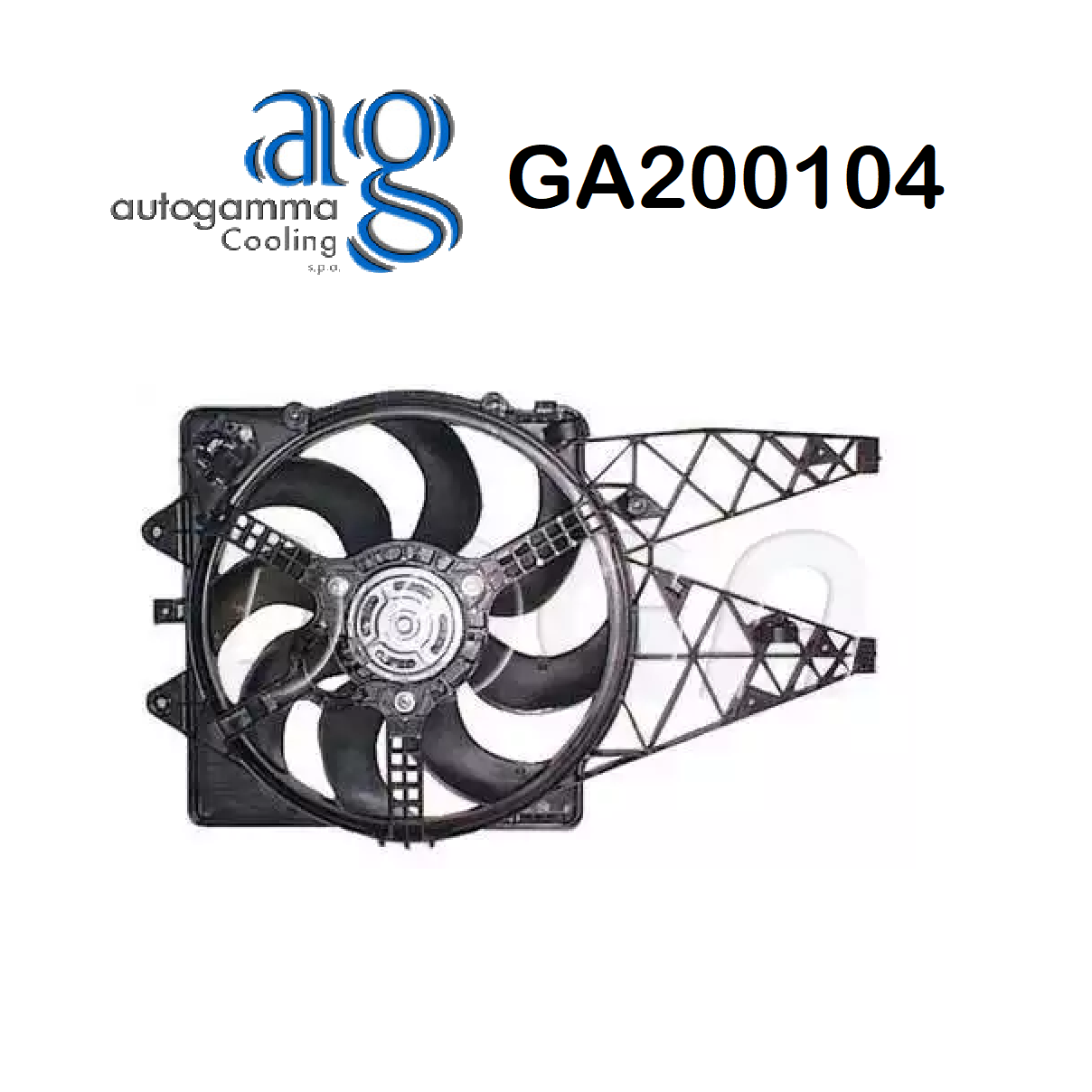 FIAT PUNTO ENGINE COOLING FAN - GRANDE PUNTO AUTOGAMMA FOR 55700342