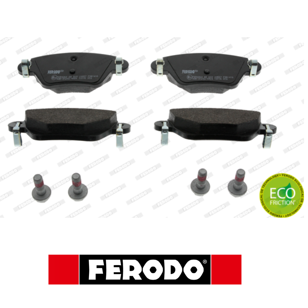 REAR BRAKE PADS SERIES KIT FORD MONDEO FERODO FDB1416