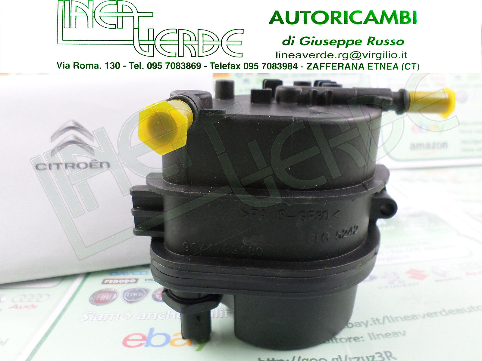 Diesel Fuel Filter for CITROEN C3 1.4 /& 1.6 eHDI /& HDI from 2010 to 2016 BOSCH