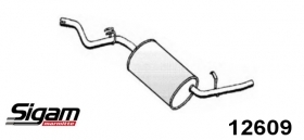 REAR SILENCER FOLLOW FOR 7603738 - 7520260 FIAT DUNA - ELBA