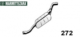 REAR SILENCER ZARA 272 FOR 5980672 FIAT 127 1.3 DIESEL