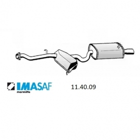 REAR SILENCER IMASAF ALFA ROMEO 146 FOR 60607936 - 60610637