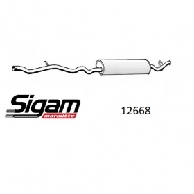 REAR SILENCER FOLLOW THE FIAT TEMPRA FOR 7657583 - 50030025